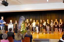 Auch die Klasse von Lothar Höller wurde geehrt.
