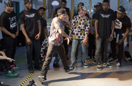 Breakdance-Battle Jugendhaus Frankfurter Berg. Foto: Rolf Oeser