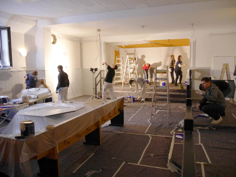 Social Day im Jugendclub Sindlingen: Der größte Raum des Jugendclubs wurde ebenfalls renoviert