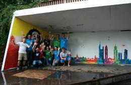 Social Days mit der Deutschen Bank im Jugendhaus Heideplatz: Der Bühnenbau